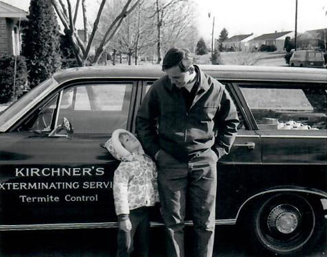 1969 Kirchner family infront of company vehicle